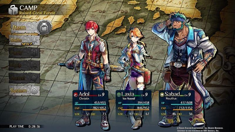 personajes demo Ys VIII Lacrimosa of Dana